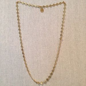 Tory Burch Gold Logo Chain Necklace